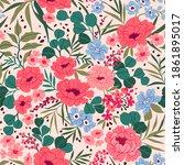seamless floral pattern. trendy ...   Shutterstock .eps vector #1861895017
