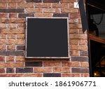 signboard mockup  advertising... | Shutterstock . vector #1861906771