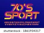 70s sport alphabet font. speed... | Shutterstock .eps vector #1861934317