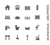 home icons | Shutterstock .eps vector #186194501