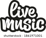 live music unique hand drawn... | Shutterstock .eps vector #1861971001