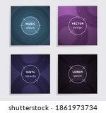 digital vinyl records music...   Shutterstock .eps vector #1861973734
