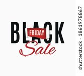 black friday sale abstract... | Shutterstock . vector #1861978867