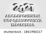 2021 new year  3d letter set....   Shutterstock .eps vector #1861980217