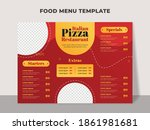 food menu template for italian... | Shutterstock .eps vector #1861981681