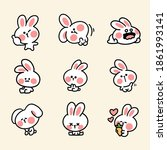 cute and adorable bunny sticker ...   Shutterstock .eps vector #1861993141