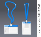 badge blue | Shutterstock .eps vector #186199841