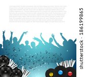 music background with... | Shutterstock .eps vector #186199865