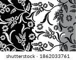 indonesian batik motifs with... | Shutterstock .eps vector #1862033761