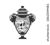 the vessel with the skull. can... | Shutterstock .eps vector #1862049481