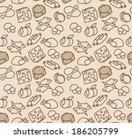 abstract seamless pattern with... | Shutterstock .eps vector #186205799