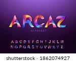 modern font. decorative... | Shutterstock .eps vector #1862074927