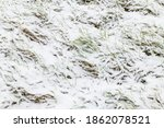Texture Of Fresh Snow Covering...