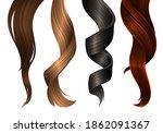 multicolored hair samples....   Shutterstock .eps vector #1862091367