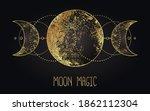 moon magic. triple moon pagan... | Shutterstock .eps vector #1862112304