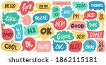 dialogue speech bubbles. chat... | Shutterstock .eps vector #1862115181