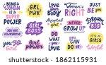 women feminist quotes. female...   Shutterstock .eps vector #1862115931