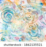 Abstract Floral Painting On...
