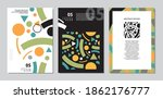 memphis style backgrounds and... | Shutterstock .eps vector #1862176777