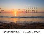 Calendar February 2021. Sea ...