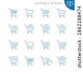 shopping cart related icons....   Shutterstock .eps vector #1862188474
