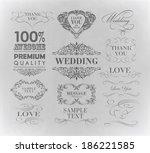 typography  calligraphic design ... | Shutterstock .eps vector #186221585