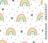 cute seamless pattern with... | Shutterstock .eps vector #1862218117