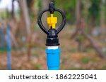 sprinkler water in garden farm   Shutterstock . vector #1862225041