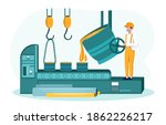 abstract concept. worker of...   Shutterstock .eps vector #1862226217