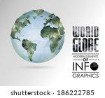vector world globe  3d...