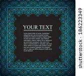 vintage ornamental frame | Shutterstock .eps vector #186223349