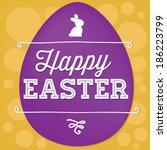 happy easter vector   easter... | Shutterstock .eps vector #186223799