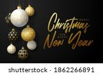 merry and safe christmas banner.... | Shutterstock .eps vector #1862266891