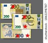 set of new paper money in the... | Shutterstock .eps vector #1862298787