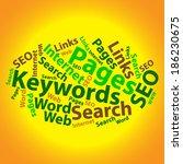 text cloud. seo wordcloud.... | Shutterstock .eps vector #186230675