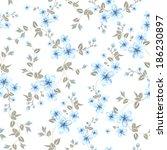 cherry blossom seamless pattern.... | Shutterstock .eps vector #186230897