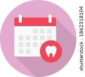 calendar vector flat colour icon