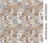 kilim bohemian seamless pattern ... | Shutterstock .eps vector #1862330641
