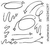 arrow icon doodle simple line | Shutterstock .eps vector #1862341297