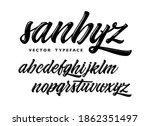 sanbyz vector typeface.... | Shutterstock .eps vector #1862351497