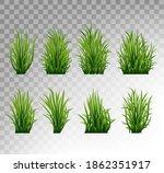 green grass set. fresh herb ... | Shutterstock .eps vector #1862351917