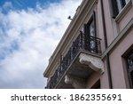 Neoclassical Building Facade...