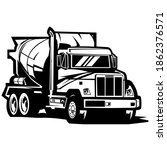 cement concrete mixer truck on...   Shutterstock .eps vector #1862376571