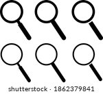 loupe icon illustration... | Shutterstock .eps vector #1862379841