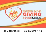national day of giving  ... | Shutterstock .eps vector #1862395441