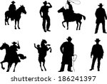 The Set Of Cowboy Silhouette