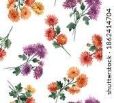 beautiful seamless floral... | Shutterstock . vector #1862414704