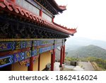 Red Temple Buildings In...