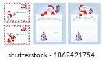 Set Christmas Envelope Template....