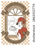 nostalgic new year's card... | Shutterstock .eps vector #1862422774
